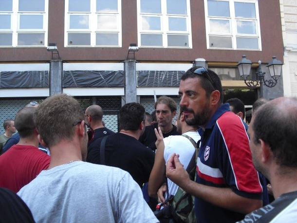 Comitato Cittadini Lavoratori Liberi pensanti alla fine dell'invasione di campo, in via D'Aquino a Taranto