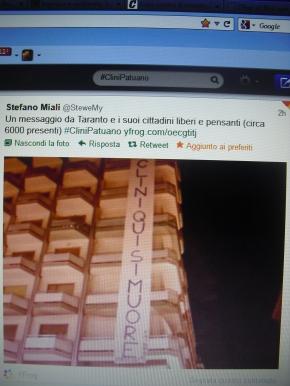 #CliniPatuano, twittertime del 10/10/12: Il Ministro per l'Ambiente, Corrado Clini, non risponde in diretta video alle domande su Ilva, Rifiuti e Trivelle. Delusione di blogger etwitteri