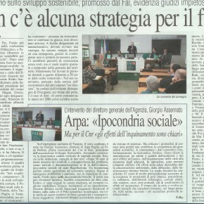 Strateghi dello sviluppo futuro di Taranto dove siete? I cittadini non ci stanno ad essere chiamati ipocondriaci sociali. Possibile manifestazione il 15 dicembre2012