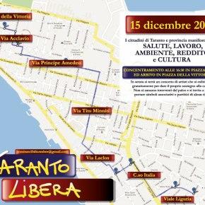 #tarantolibera il #15dicembre 2012 per una rinascita di #Taranto contro il decreto legge incostituzionale salva #Ilva, per laLEGALITA'