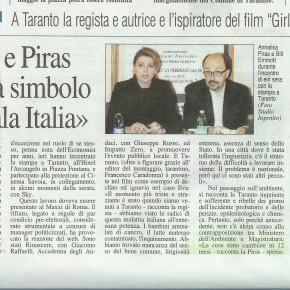Girlfriend in a coma, è arrivato in una sala di Taranto il 21 febbraio, laddove un anno prima gli autori avevano provato un vero e proprio shock per il casoIlva