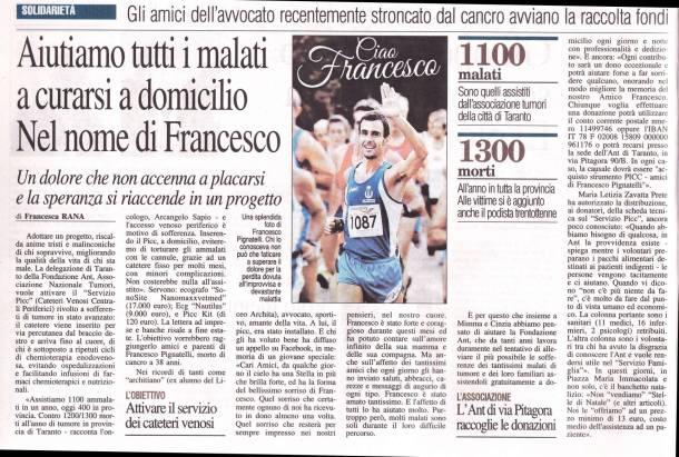 Servizio Picc Ant Amici di Francesco Pignatelli