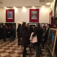Nel foyer i quadri di Alfredo Pompilio