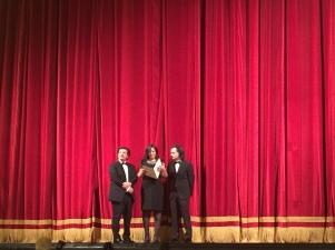 Da sinistra, Luciano Di Giorgio, Marina Luzzi, Adriano Di Giorgio