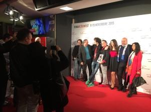Da sinistra, Carlo Dutto, Luca Raffaelli, Francesco Chiatante, Simone Martino ed il resto del cast
