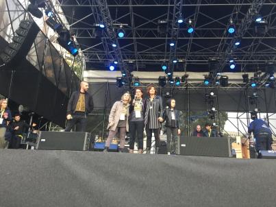 Michele Riondino, Rita Corvace sopravvissuta al cancro, Francesca Russo, medico oncologo in prima linea, Valentina Petrini
